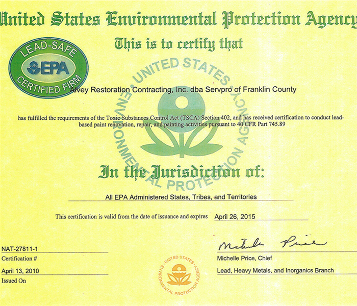 Local Restoration Company And Large Retail Box Store Cited By Epa
