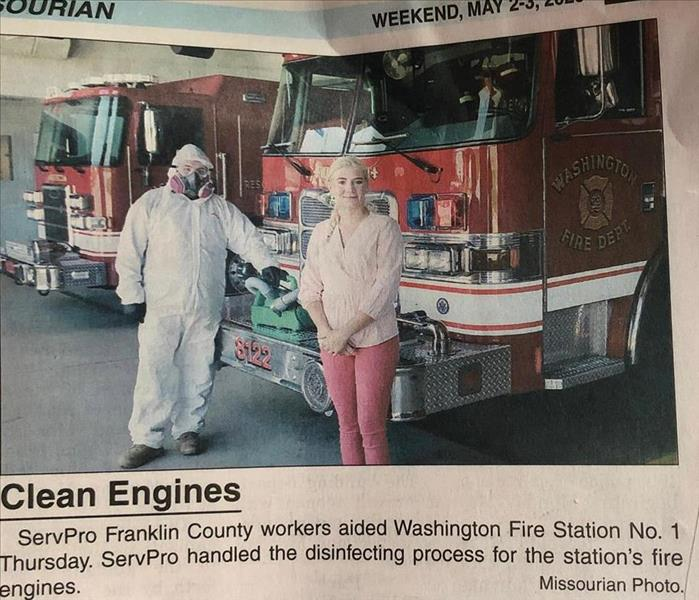 SERVPRO of Franklin County featured in the Missourian newspaper.