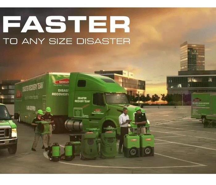General SERVPRO is faster to any size disaster