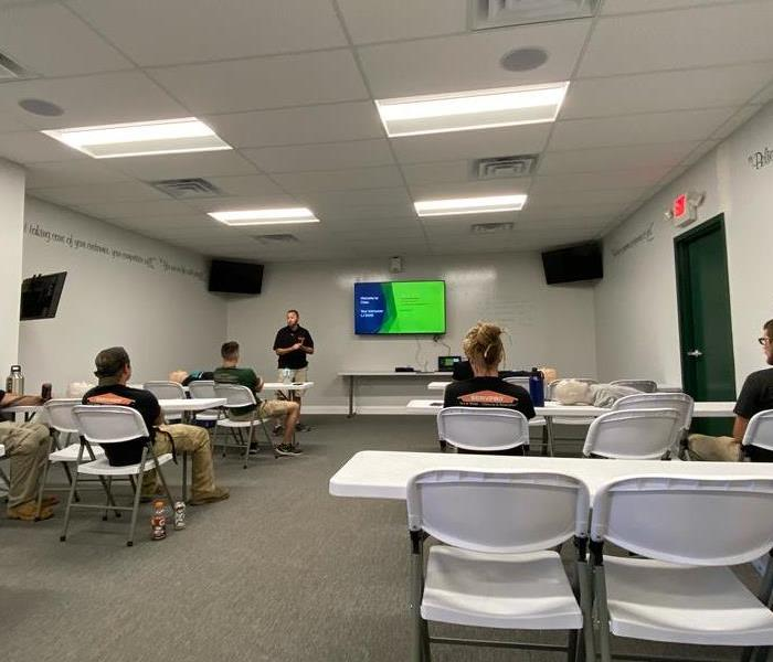 SERVPRO Employees in our Training Center for CPR class