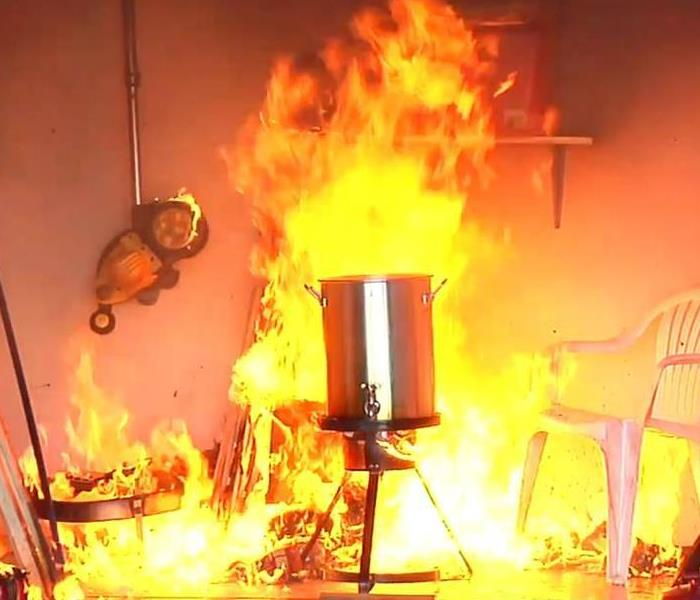 Fire Damage Five Dangers of Deep Frying a Turkey