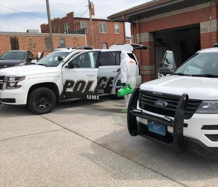 Disinfecting Vehicles from the Union, MO Police Department
